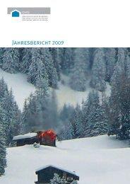 Jahresbericht 2009 - Gebäudeversicherung Graubünden - Kanton ...