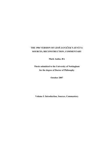 university of nottingham e-thesis