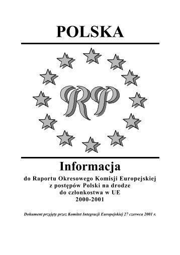 Informacja do Raportu Okresowego Komisji - Polska w UE