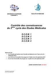 ANNEE UNIVERSITAIRE 2011/2012 - Faculté de médecine ...