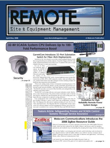 32-Bit SCADA System CPU Delivers Up to - Remote Magazine