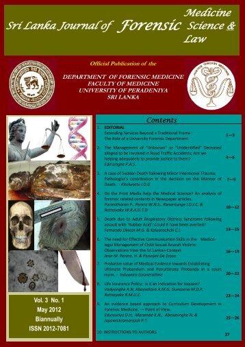 Forensic - University of Peradeniya