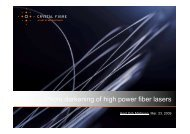 Photo darkening of high-power fiber lasers - OFC/NFOEC