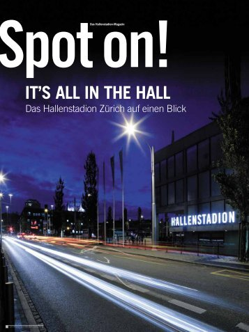 It's all In tHe Hall - Hallenstadion