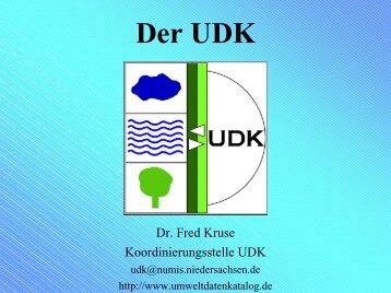 Der Umweltdatenkatalog (UDK) - KST PortalU