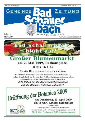 Bad Schallerbach blüht auf! - Gemeinde Bad Schallerbach