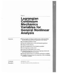 Lagrangian Continuum Mechanics Variables for General Nonlinear