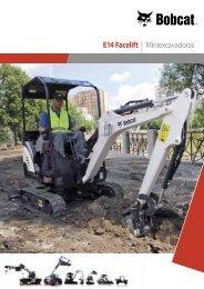 Especificaciones de la miniexcavadora E14 - Bobcat