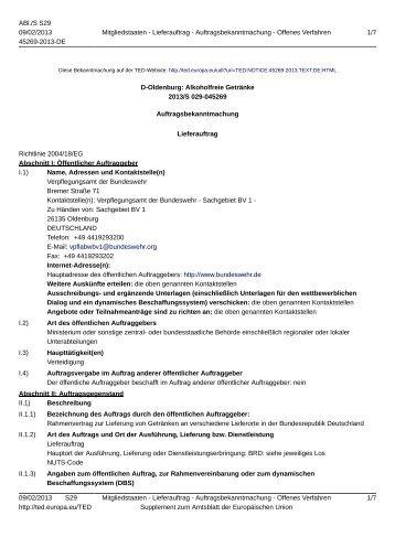 D-Oldenburg: Alkoholfreie Getränke