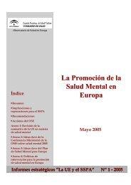 La Promoción de la Salud Mental en Europa - Escuela Andaluza de ...