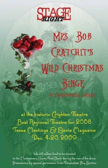 Mrs. Bob Cratchit's Wild Christmas Binge - Stage Right Resources