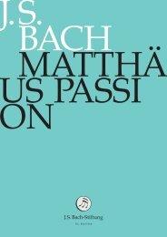 einführung zur matthäus-passion - J. S. Bach-Stiftung