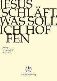 freitag, 18. januar 08 trogen (ar) - Bach Cantatas