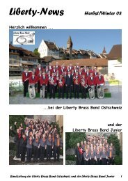 Liberty-News Herbst/Winter 08 - Liberty Brass Band Ostschweiz