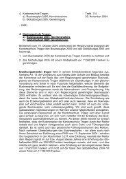 4. Kantonsschule Trogen: Trakt. 114 a) Businessplan 2005 ...