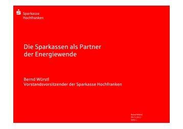 Die Sparkassen als Partner der Energiewende - Energie-Netzwerk ...