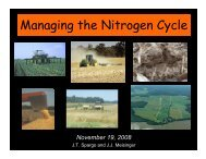 Managing the Nitrogen Cycle Manag ng the N trogen Cycle