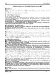 Die Sportordnung der Deutschen Triathlon Union (SpO)
