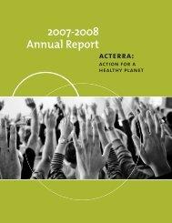 2007-2008 Annual Report - Acterra