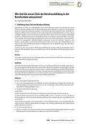 Wie sind die neuen Ziele der Berufsausbildung in der ... - BiBB