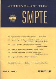 TOC (PDF) - SMPTE Motion Imaging Journal