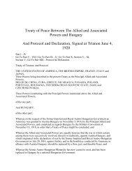 Trianon Peace Treaty