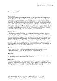 Firmenportrait - Halter Partner Architekten AG