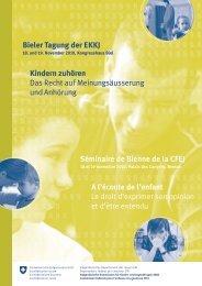 Programm Bieler Tagung 2010 - Eidgenössische Kommission für ...