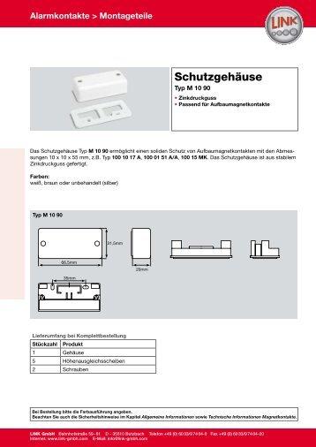 Alarmkontakte > Montageteile - LINK GmbH