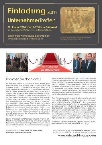 zum Unternehmertreffen am 31.01.2013 in Grünwald.