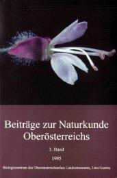 Beiträge zur Naturkunde Oberösterreichs