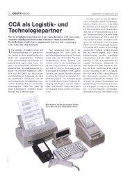 00A als Logistik- und Technologiepartner
