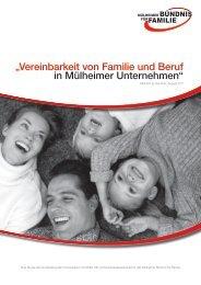 """""""Vereinbarkeit von Familie und Beruf in Mülheimer Unternehmen"""""""