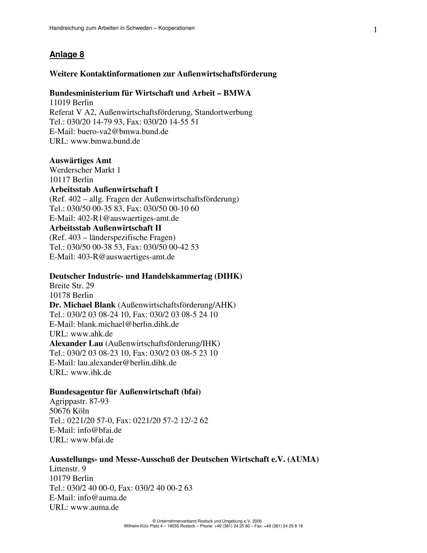 7 free Magazines from UNTERNEHMERVERBAND.ROSTOCK.DE