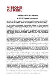 Happy End und positive Bilanz der Ausgabe 2012 von Visions du Réel
