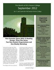 September 2012 - University of Oklahoma