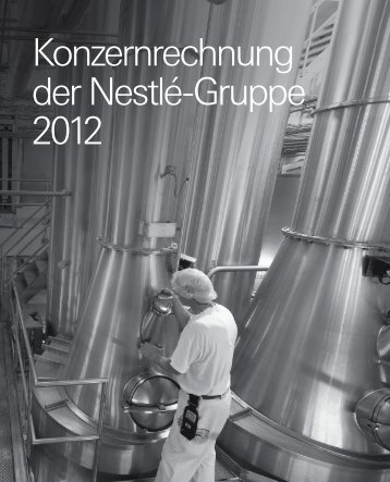 Konzernrechnung der Nestlé-Gruppe 2012