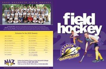 Schedule for the 2002 Season: - Nazareth College Athletics