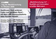 Marktforschung 2.0 - LINK qualitative AG