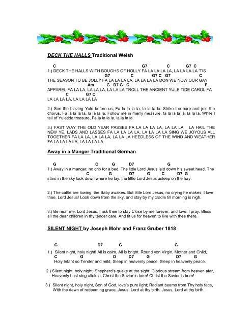 picture regarding Lyrics to Away in a Manger Printable named Xmas LYRICS and chords