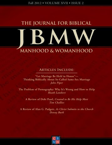 Let Marriage Be Held in Honor - The Council on Biblical Manhood ...