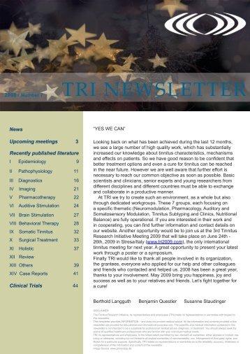 TRI Newsletter 0708 - Tinnitus Research Initiative