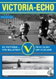 SC ViCtoria – V/W BillStedt Fr 07.10.2011 um 19.30 uhr