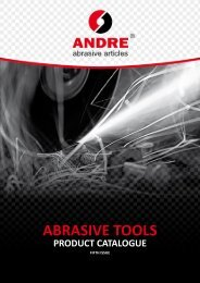 ABRASIVE TOOLS - andre abrasive articles