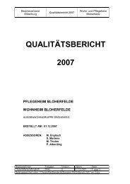 "QUALITÃ""TSBERICHT 2007 - Bezirksverband Oldenburg"