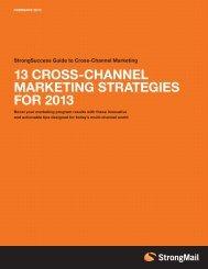 13 CROSS-CHANNEL MARKETING STRATEGIES FOR 2013