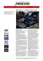 565z3 Datasheet (633.7kb) - meridian-audio[.info]