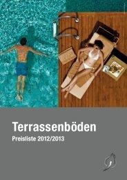 Preisliste 2012/2013 für Terrassenböden. - Holzwerkstoffe Gfeller AG