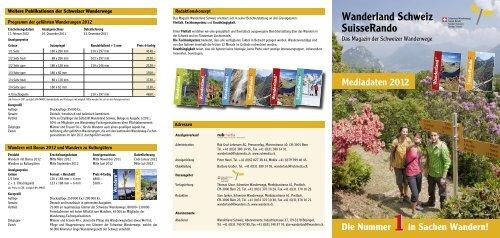Die Nummer in Sachen Wandern! - Schweizer Wanderwege