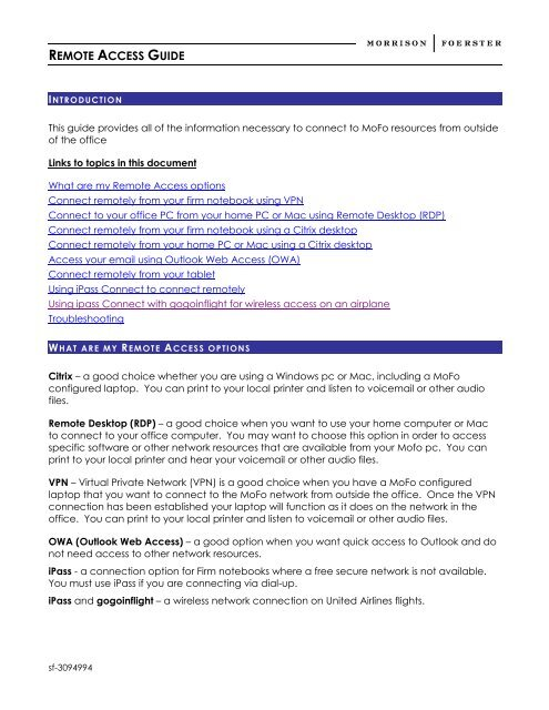 Remote Access Guide Remote By Remote